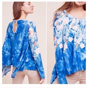 Anthropologie watercolor top large
